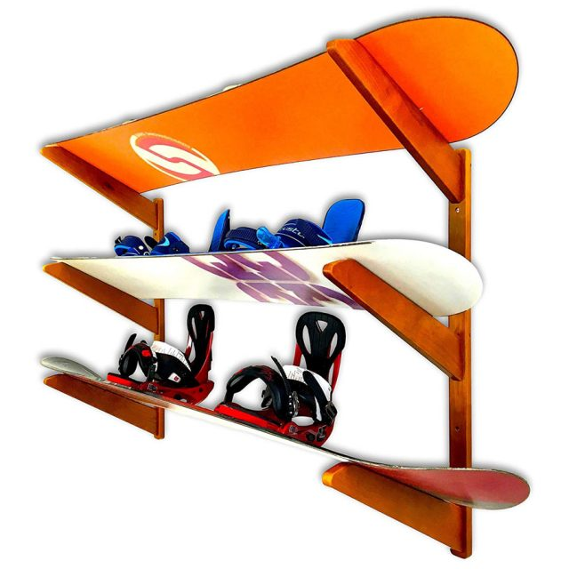 Store Your Board Timber Snowboard Wall Mount